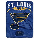 St. Louis Blues Blanket 60x80 Raschel Inspired Design Special Order