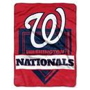 Washington Nationals Blanket 60x80 Raschel Home Plate Design