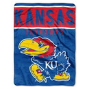 Kansas Jayhawks Blanket 60x80 Raschel Basic Design