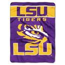 LSU Tigers Blanket 60x80 Raschel Basic Design
