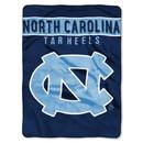 North Carolina Tar Heels Blanket 60x80 Raschel Basic Design