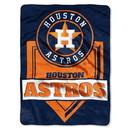 Houston Astros Blanket 60x80 Raschel Home Plate Design Special Order
