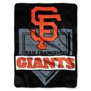 San Francisco Giants Blanket 60x80 Raschel Home Plate Design