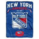 New York Rangers Blanket 60x80 Raschel Inspired Design
