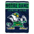 Notre Dame Fighting Irish Blanket 60x80 Raschel Basic Design