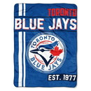 Toronto Blue Jays Blanket 46x60 Micro Raschel Walk Off Design Rolled Special Order