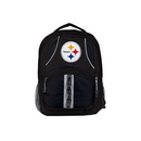 Pittsburgh Steelers Backpack Captain Style Black and Black