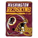 Washington Redskins Blanket 46x60 Micro Raschel 40 Yard Dash Design Rolled