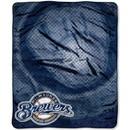 Milwaukee Brewers Blanket 50x60 Raschel Retro Design