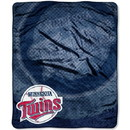 Minnesota Twins Blanket 50x60 Raschel Retro Design