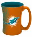 Miami Dolphins Coffee Mug - 14 oz Mocha
