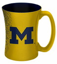 Michigan Wolverines Coffee Mug - 14 oz Mocha