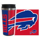 Buffalo Bills Travel Mug 14oz Full Wrap Style Hype Design