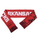 Arkansas Razorbacks Split Logo Reverse Scarf - 2015