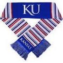 Kansas Jayhawks Glitter Stripe Scarf