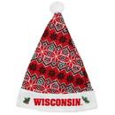 Wisconsin Badgers Knit Santa Hat - 2015