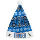 Oklahoma City Thunder Knit Santa Hat - 2015