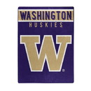 Washington Huskies Blanket 60x80 Raschel Basic Design - Special Order