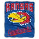 Kansas Jayhawks Blanket 50x60 Raschel Alumni Design