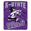 Kansas State Wildcats Blanket 50x60 Raschel Alumni Design