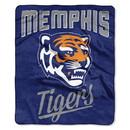 Memphis Tigers Blanket 50x60 Raschel Alumni Design