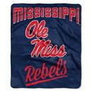Mississippi Rebels Blanket 50x60 Raschel Alumni Design