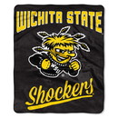 Wichita State Shockers Blanket 50x60 Raschel Alumni Design