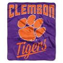 Clemson Tigers Blanket 50x60 Raschel Alumni Design