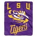 LSU Tigers Blanket 50x60 Raschel Alumni Design
