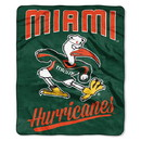 Miami Hurricanes Blanket 50x60 Raschel Alumni Design