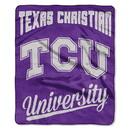 TCU Horned Frogs Blanket 50x60 Raschel Alumni Design