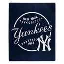 New York Yankees Blanket 50x60 Raschel Moonshot Design