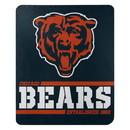 Chicago Bears Blanket 50x60 Fleece Split Wide Design