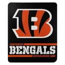 Cincinnati Bengals Blanket 50x60 Fleece Split Wide Design