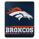Denver Broncos Blanket 50x60 Fleece Split Wide Design