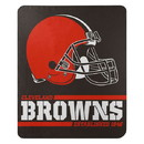 Cleveland Browns Blanket 50x60 Fleece Split Wide Design