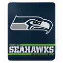 Seattle Seahawks Blanket 50x60 Fleece Split Wide Design