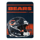 Chicago Bears Blanket 46x60 Micro Raschel Run Design Rolled