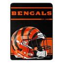 Cincinnati Bengals Blanket 46x60 Micro Raschel Run Design Rolled