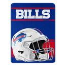 Buffalo Bills Blanket 46x60 Micro Raschel Run Design Rolled