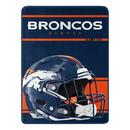 Denver Broncos Blanket 46x60 Micro Raschel Run Design Rolled