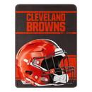 Cleveland Browns Blanket 46x60 Micro Raschel Run Design Rolled