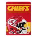 Kansas City Chiefs Blanket 46x60 Micro Raschel Run Design Rolled