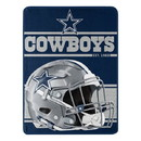 Dallas Cowboys Blanket 46x60 Micro Raschel Run Design Rolled