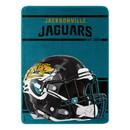Jacksonville Jaguars Blanket 46x60 Micro Raschel Run Design Rolled