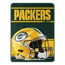 Green Bay Packers Blanket 46x60 Micro Raschel Run Design Rolled