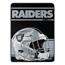 Oakland Raiders Blanket 46x60 Micro Raschel Run Design Rolled