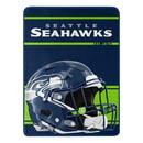 Seattle Seahawks Blanket 46x60 Micro Raschel Run Design Rolled