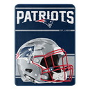 New England Patriots Blanket 46x60 Micro Raschel Run Design Rolled