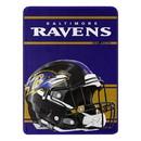 Baltimore Ravens Blanket 46x60 Micro Raschel Run Design Rolled